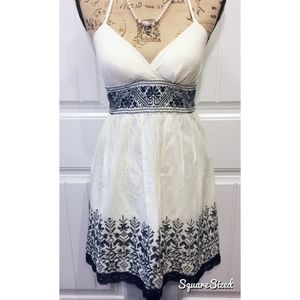 Embroidered Halter Dress NWOT